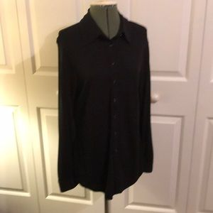 Express ladies long sleeve black blouse